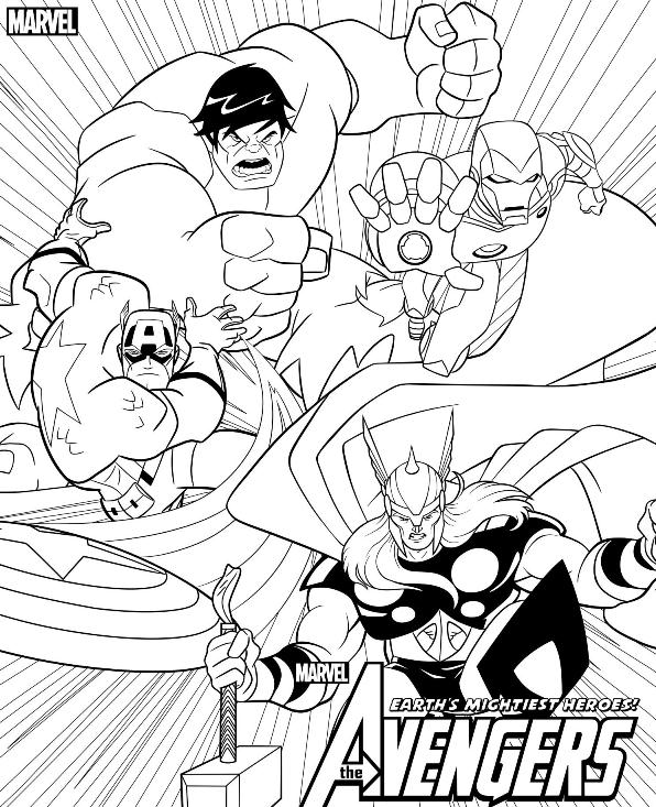 Kids-n-fun.co.uk | 18 coloring pages of Avengers