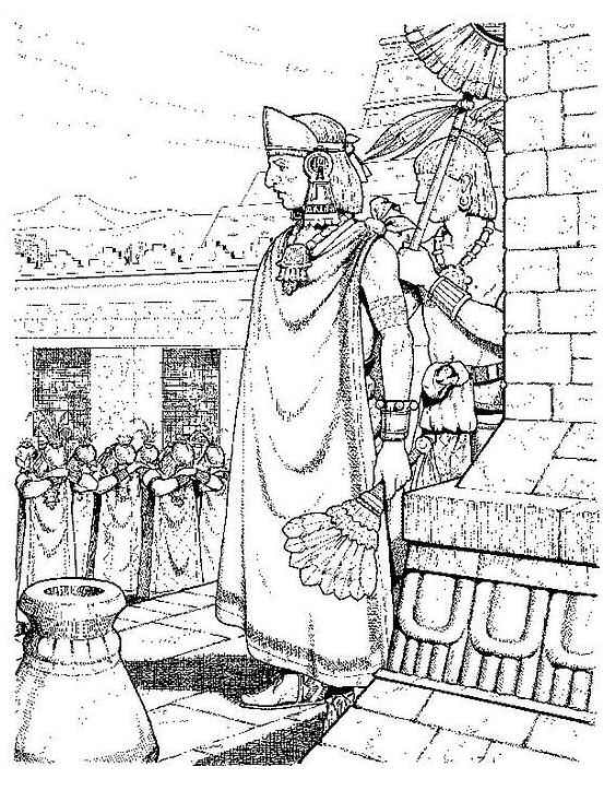 Kids-n-fun.com | 14 coloring pages of Aztecs