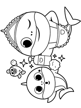 Kids N Fun Com 19 Coloring Pages Of Baby Shark