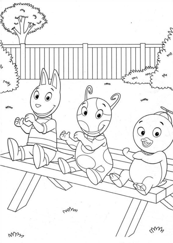 Backyardigans Coloring Pages - GetColoringPages.com | 832x593