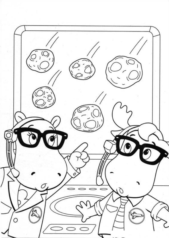 Tyrone Coloring Page - Free The Backyardigans Coloring Pages ... | 832x593