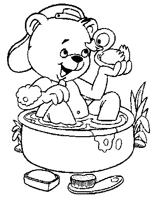 Kids-n-fun.com | 22 coloring pages of In the bath
