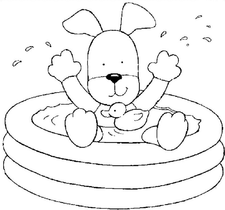 Kids-n-fun.co.uk | Coloring page In the bath In the bath