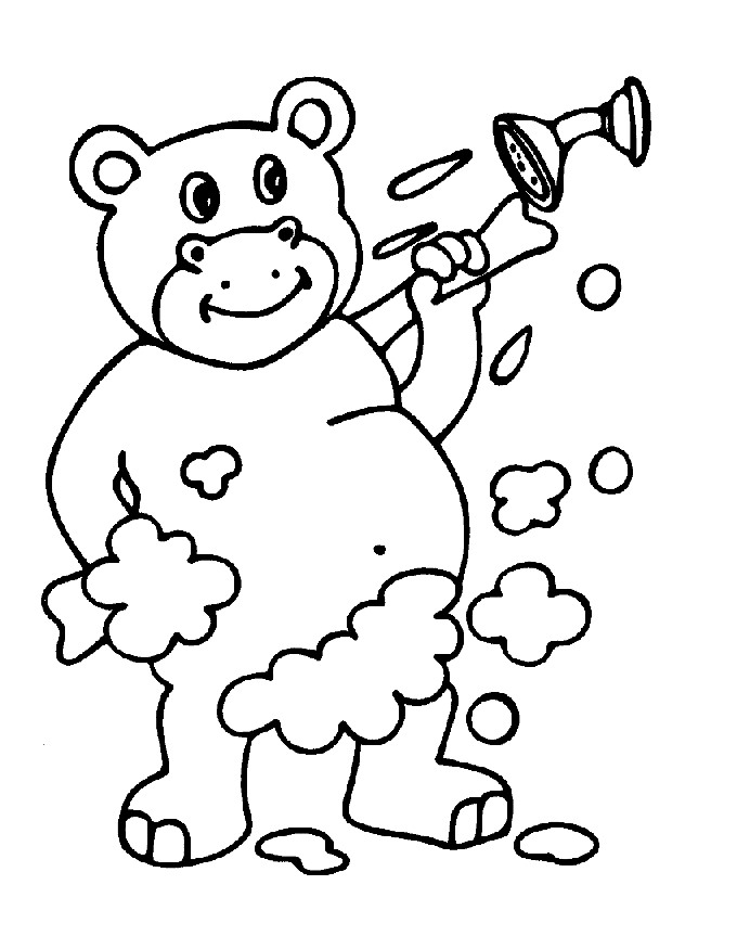 Kids-n-fun.com | Coloring page In the bath In the bath