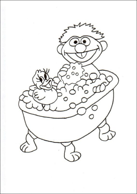 n 22 coloring pages of in the bath