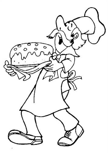 Bakery Coloring Page