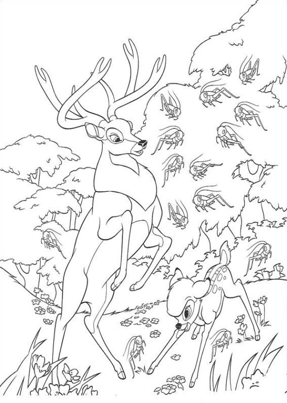 Kids-n-fun.co.uk | 29 coloring pages of Bambi 2
