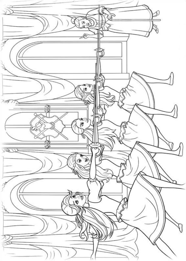 17 Barbie And The Three Musketeers Coloring Pages