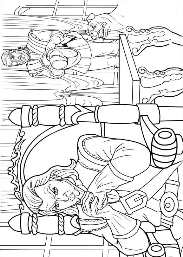Barbie and the three Musketeers coloring pages, coloring Barbie ... | 832x593