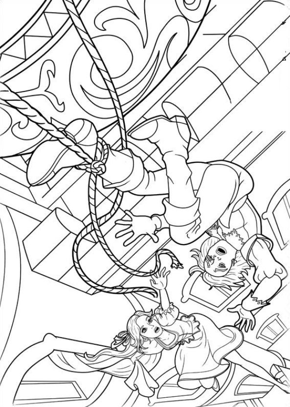 Kids N Fun Com Coloring Page Barbie And The Three Musketeers