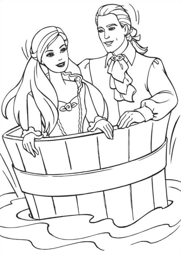 Free Free Coloring Pages Of Barbie Princesses, Download Free Clip ... | 832x593