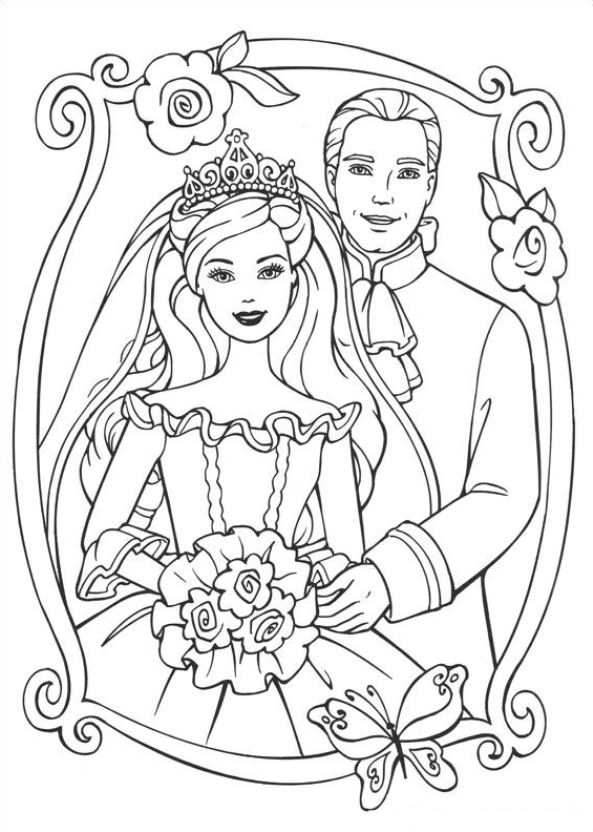 Barbie The Princess And Pauper 26 Coloring Pages