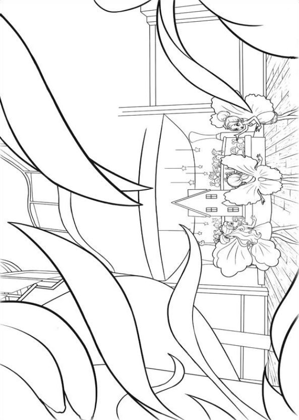 19 barbie thumbelina coloring pages