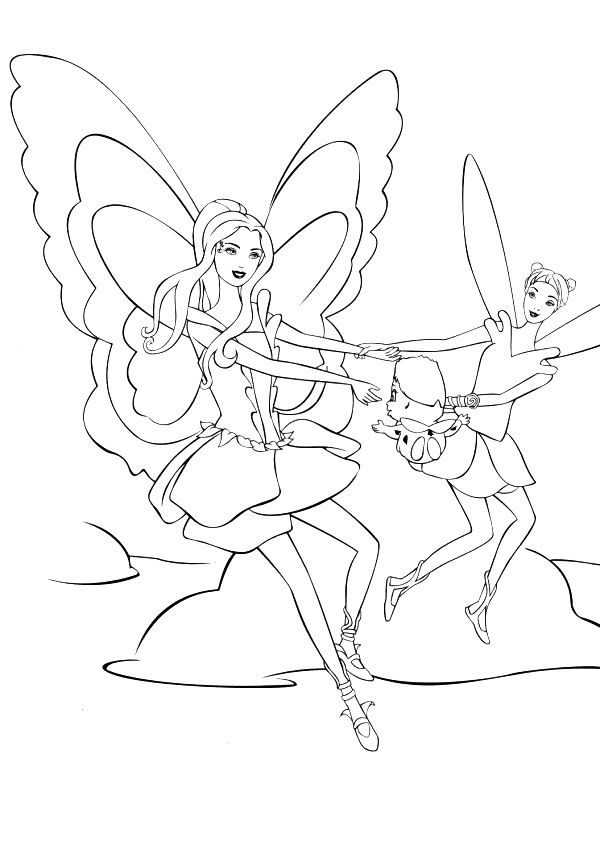 Kids-n-fun.com | 21 coloring pages of Barbie FairyTopia