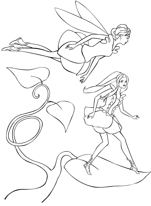 Kidsnfuncom  21 coloring pages of Barbie FairyTopia