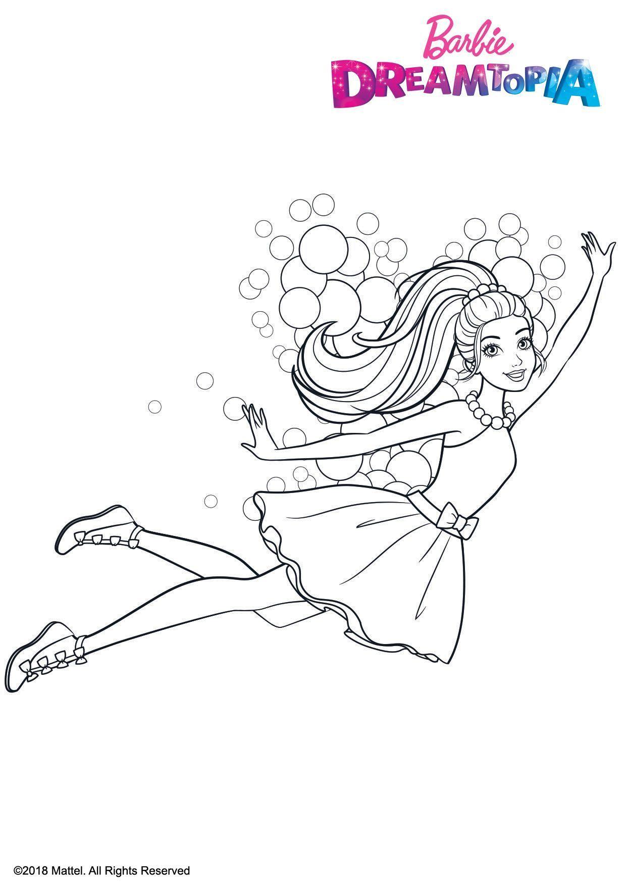 Kids-n-fun.com   Coloring page Barbie Dreamtopia Barbie ...