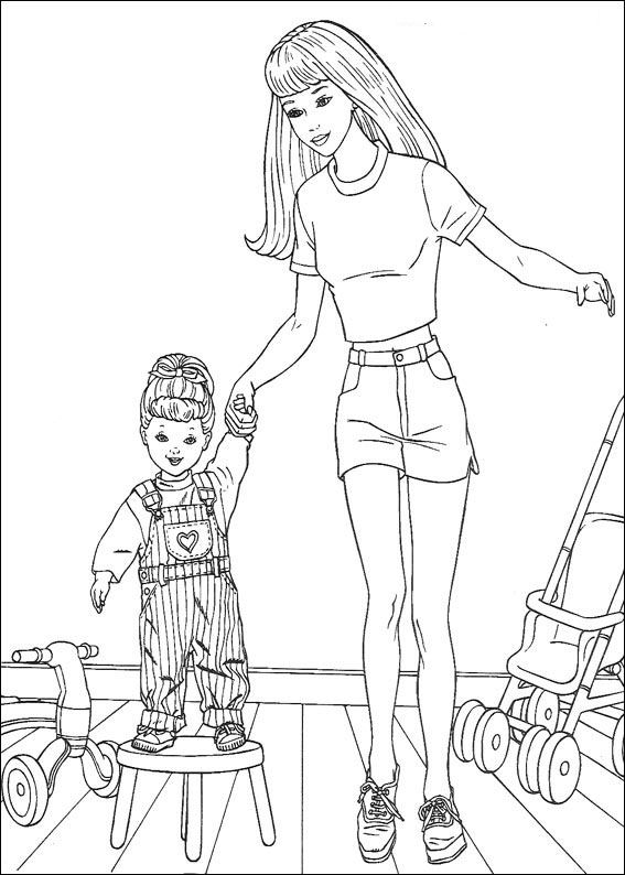 37 barbie more coloring pages barbie the dreamhouse - Barbie Dream House Coloring Pages