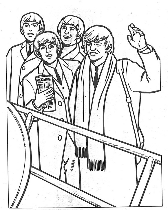Kidsnfun 14 coloring pages of Beatles