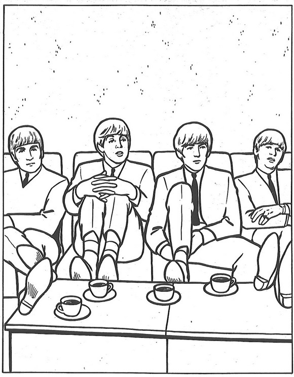 Kids n 14 coloring pages of beatles for Beatles coloring book pages