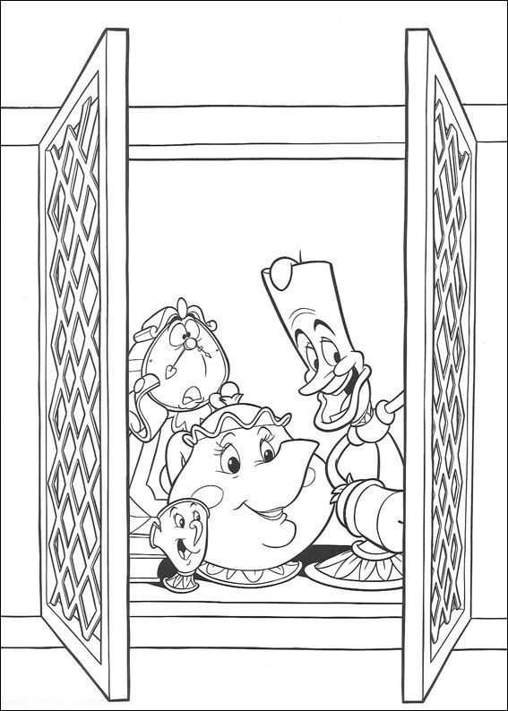 Kids-n-fun.com | 41 coloring pages of Beauty and the Beast