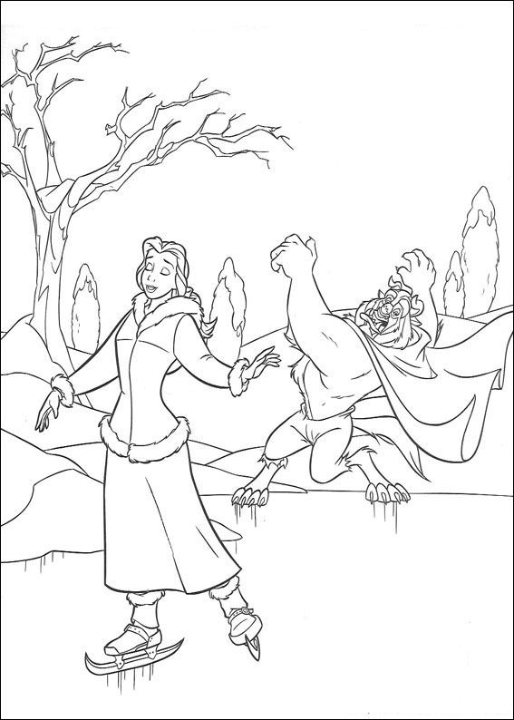 Kidsnfuncom  41 coloring pages of Beauty and the Beast