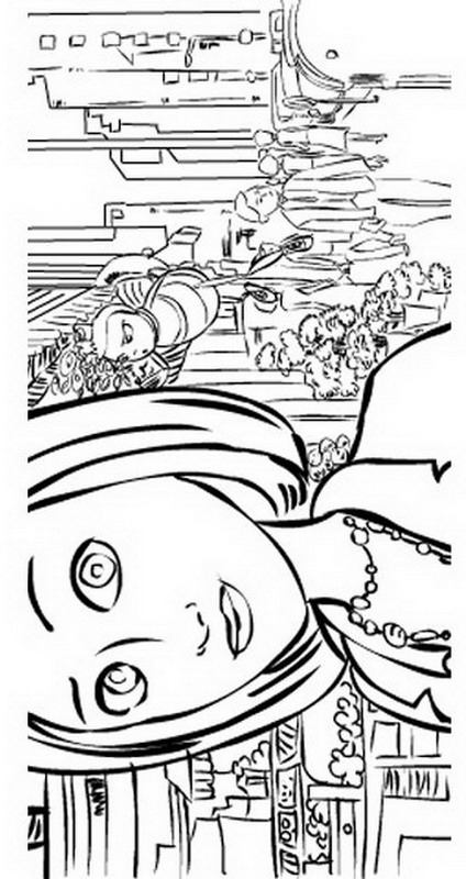 universal movie coloring pages | Kids-n-fun.com | 40 coloring pages of Bee Movie