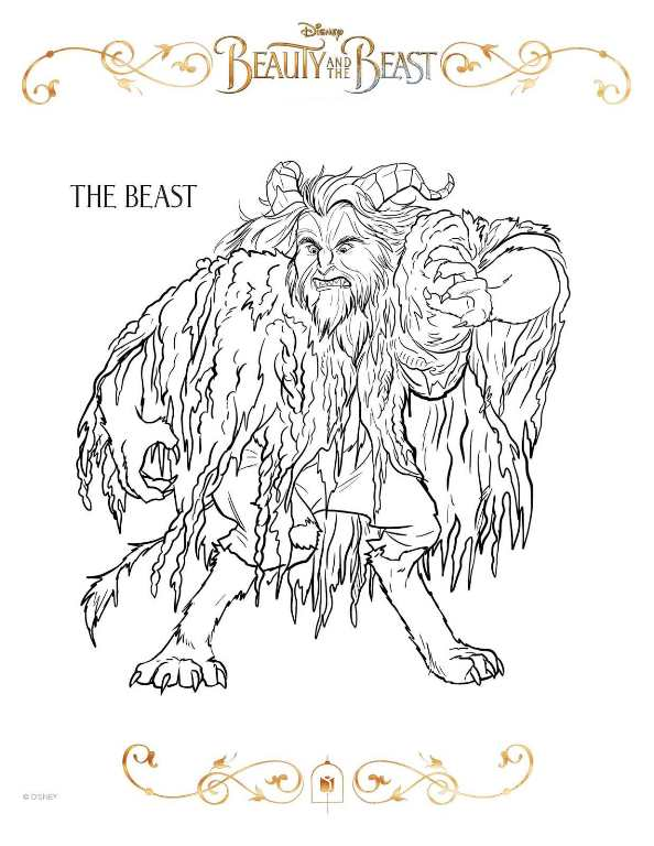 Kids N Fun Com 20 Coloring Pages Of Beauty And The Beast 2017