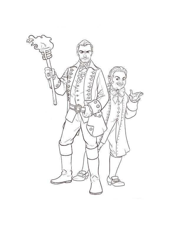 Kids n gaston lefou 2 for Gaston coloring pages