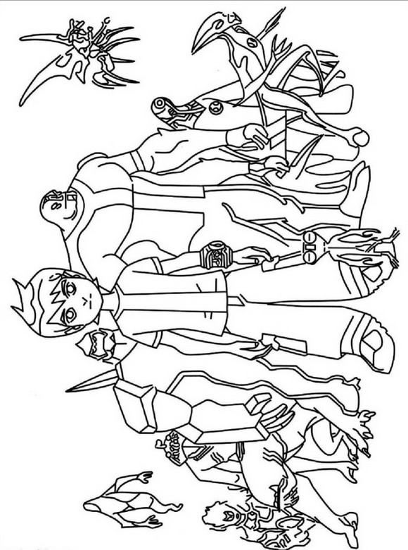 Kids-n-fun.com   27 coloring pages of Ben 10