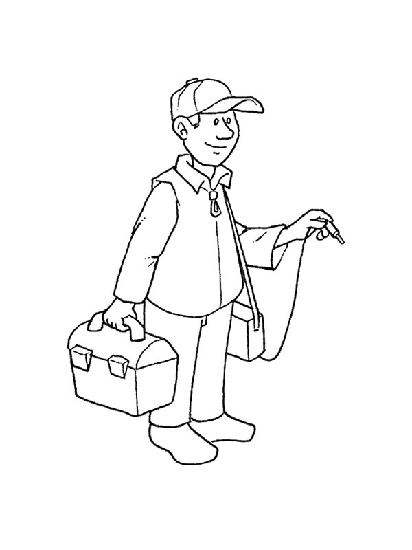 coloring pages of professions - photo#36
