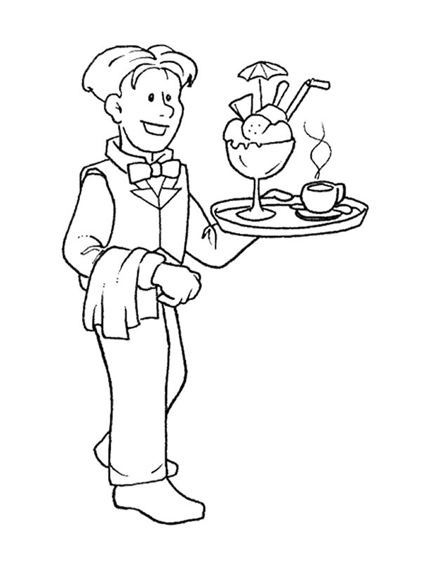 jobs and occupations coloring pages - photo#36