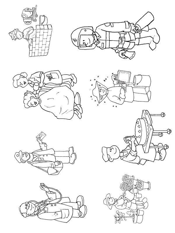 Kidsnfun 68 coloring pages of Professions