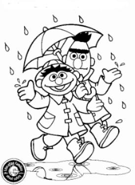 Kidsnfuncom 12 coloring pages of Sesame Street Bert and Ernie
