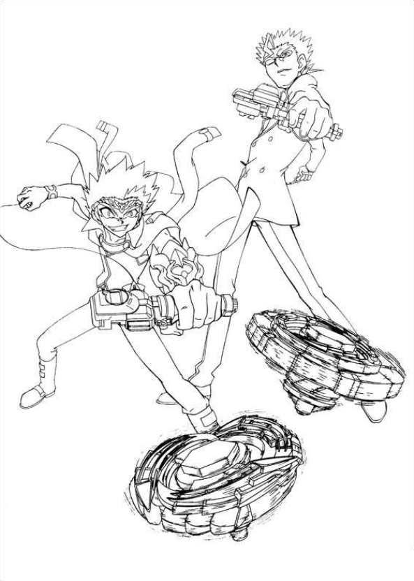 14 Coloring Pages Beyblade