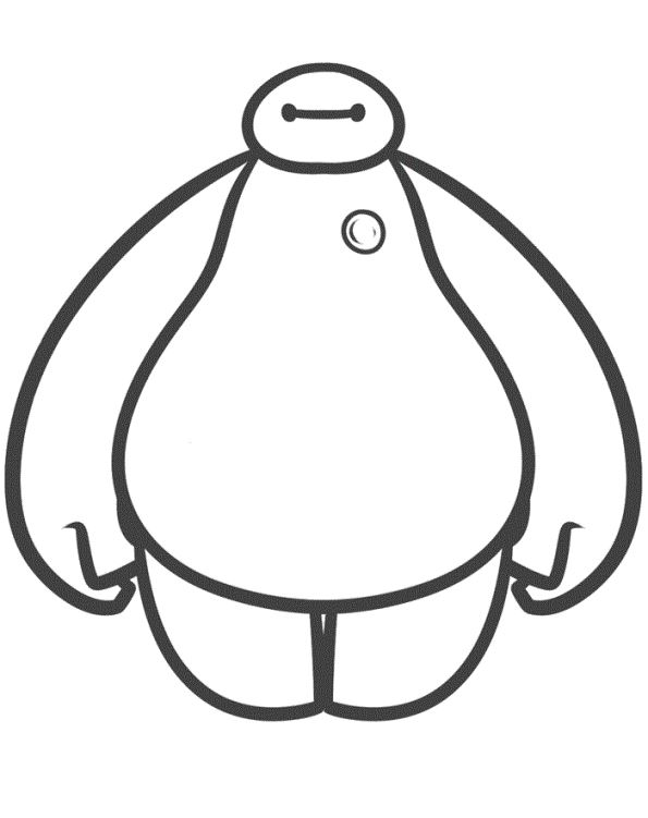 It is a photo of Declarative Baymax Coloring Pages