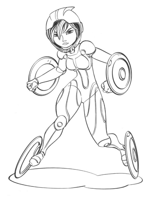 Big Hero 6 Colouring In Sheets : Kids n fun coloring page big hero gogo tomago
