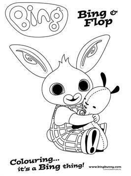 Bing Bunny Colouring Fun