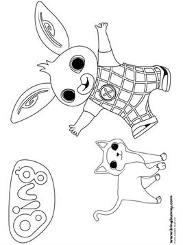 Kids N Fun Com 42 Coloring Pages Of Bing Bunny