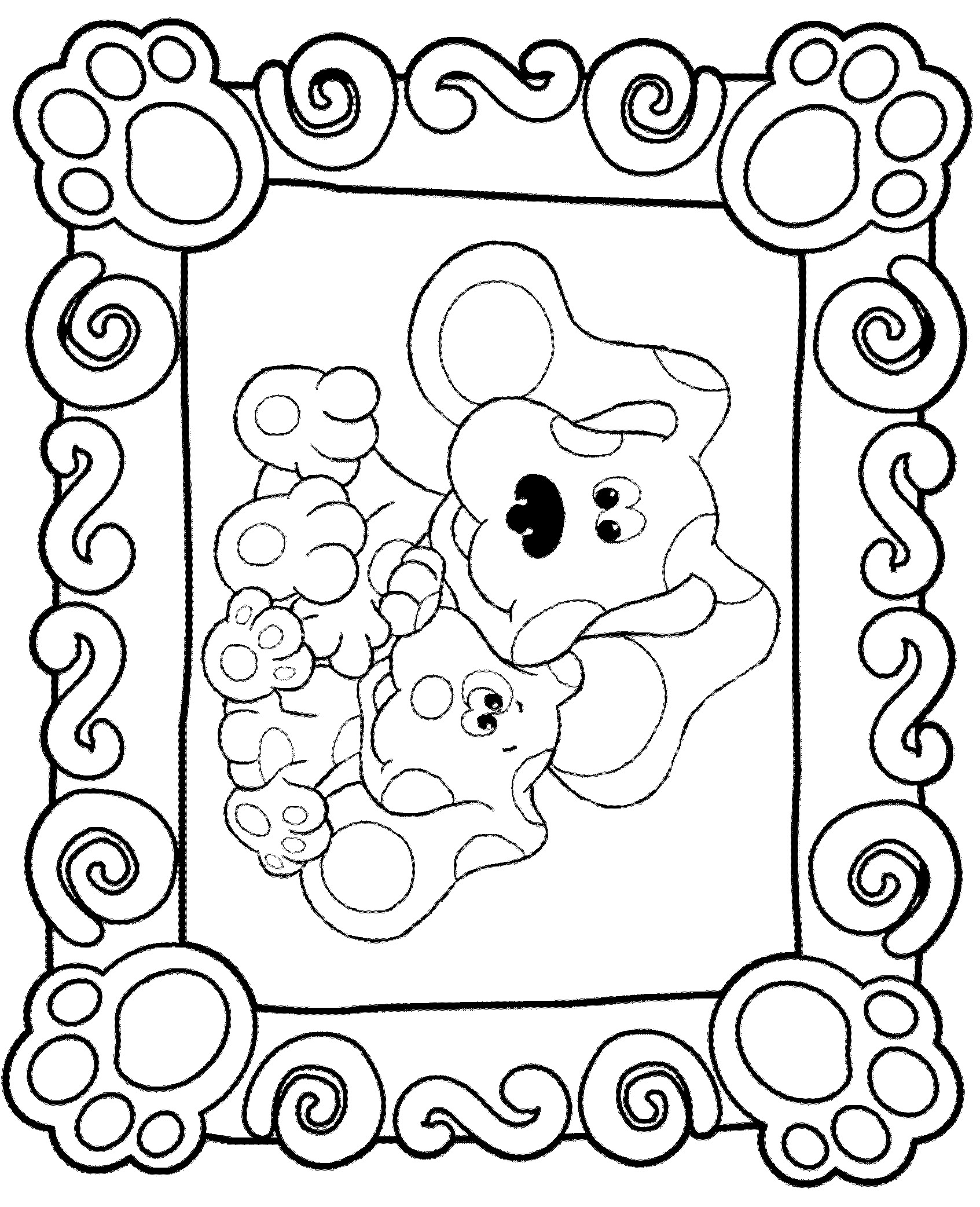 n 15 coloring pages of blues clues