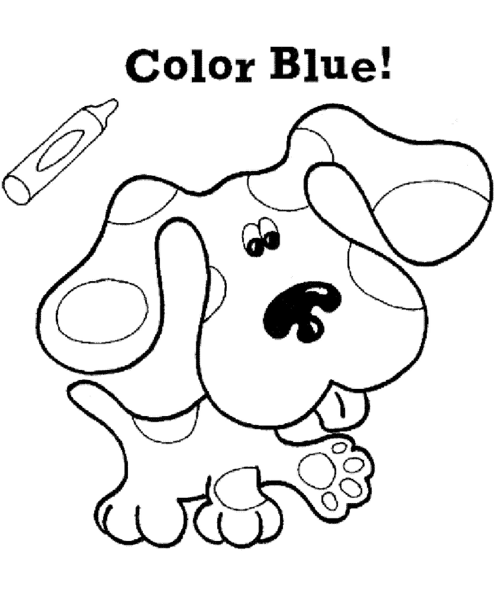 Kids n 15 coloring pages of blues clues for Blue coloring page