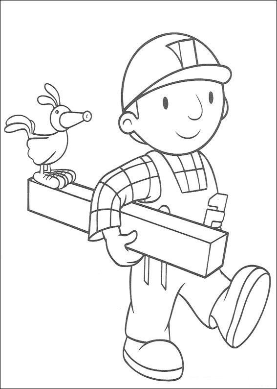 Kids n funcom 87 coloring pages of Bob the Builder