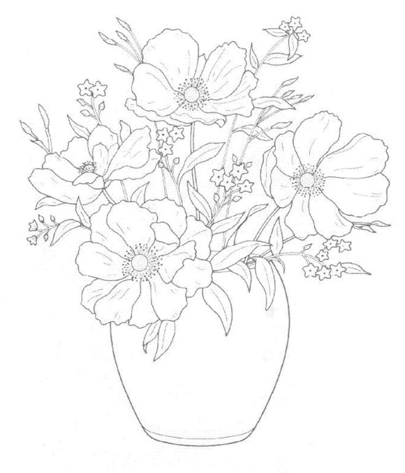 Kids-n-fun.com | 30 coloring pages of Bouquets