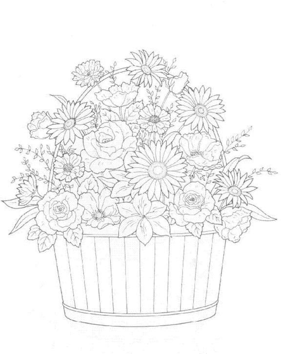 30 Bouquets Coloring Pages