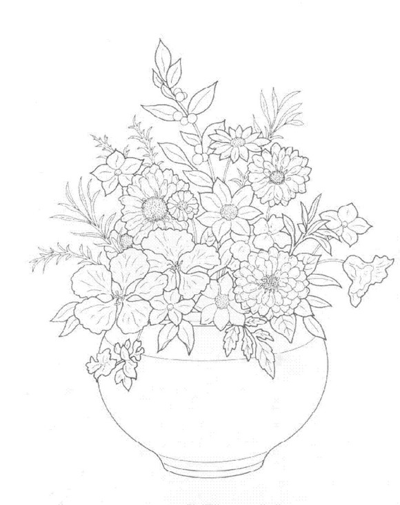 30 Bouquets Coloring Pages