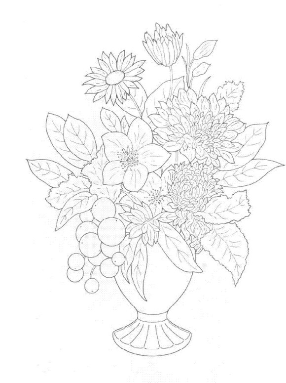 Kids n funcom 30 coloring pages of Bouquets