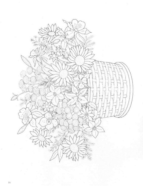 Kids N Fun Com Coloring Page Bouquets Bouquets