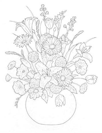 Kids N Fun Com 30 Coloring Pages Of Bouquets