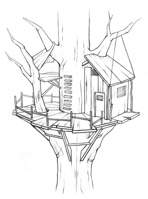 Kids-n-fun.co.uk | 11 coloring pages of Treehouse