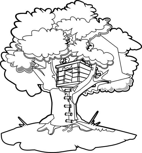 Printable Tree House Plans: 11 Coloring Pages Of Treehouse