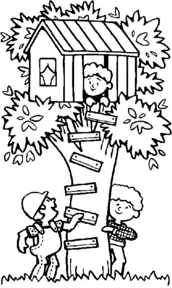 n co uk coloring page treehouse boomhutten